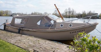 25 De Bruijs Vlet Cabin Sloep Polyester Diesel gebruikt als nieuw Korvet Jachtmakelaardij