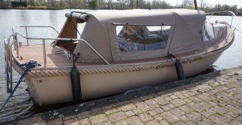 26 De Bruijs Vlet Cabin Sloep Polyester Diesel gebruikt als nieuw Korvet Jachtmakelaardij