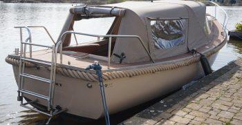 27 De Bruijs Vlet Cabin Sloep Polyester Diesel gebruikt als nieuw Korvet Jachtmakelaardij